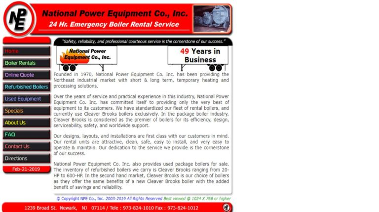 National Power Equipment Co. Inc.